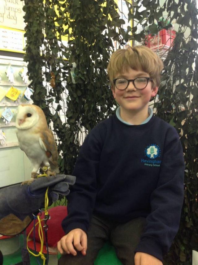 Jonny with Hevingham pupil